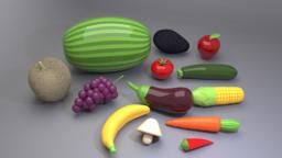 Play Fruit And Vegetables 3D Model