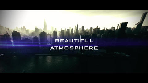 Optics SlideShow-Cinematic Trailer After Effectsテンプレート