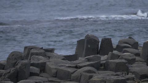 Basalt Stones At Giant Causeway, Northern Ireland - Native Version, 200fps Reas  Footage