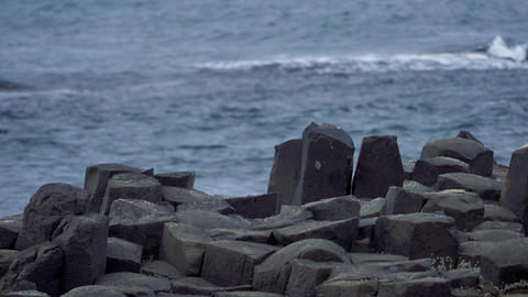 Basalt Stones At Giant Causeway, Northern Ireland - Graded Version, 200fps Reas  Footage
