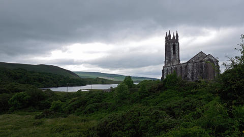 Poison Glen And Dunlewey Church Ruin, County Mayo, Ireland ビデオ