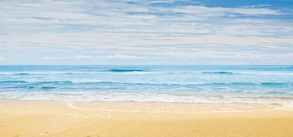 Tropical beach and ocean Photo