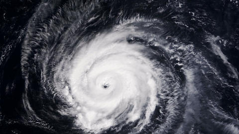 Hurricane Storm, satellite view. Elements of this image furnished by NASA Videos animados