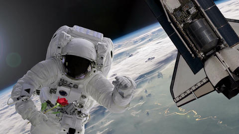 Astronaut Working On International Space Station. Elements of this image furnish Animation