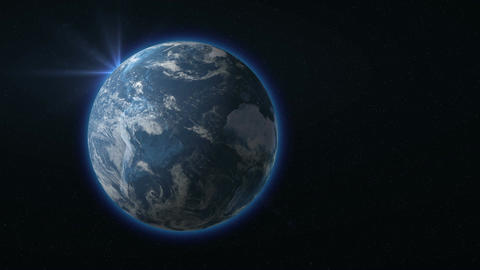 Earth rotating with the Sun Animation