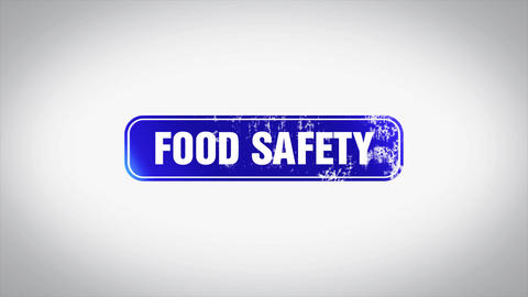 Food safety Word 3D Animated Wooden Stamp Animation Image