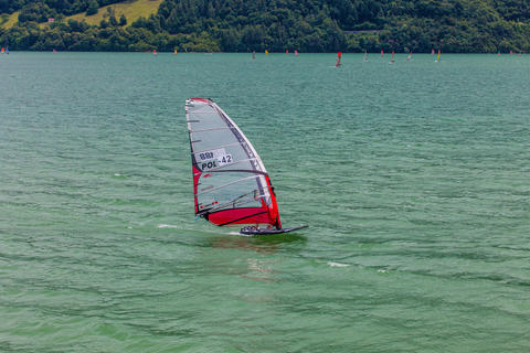 windsurf world championship. Polish concurrent in action Photo