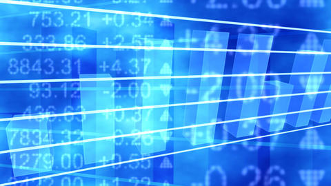 Blue stock graph Footage