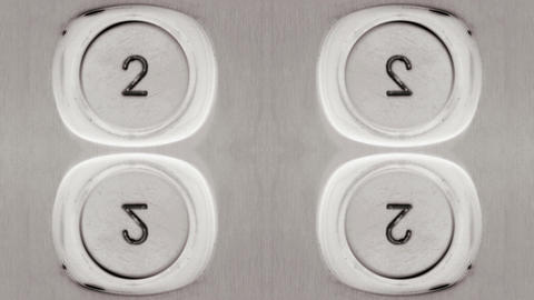 Elevator number buttons Footage
