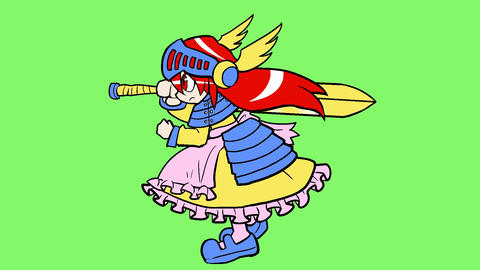 Manga knight lady dash Animation