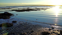 Sunset in Rimouski, Quebec by Saint Lawrence river in Gaspesie region of Canada Footage