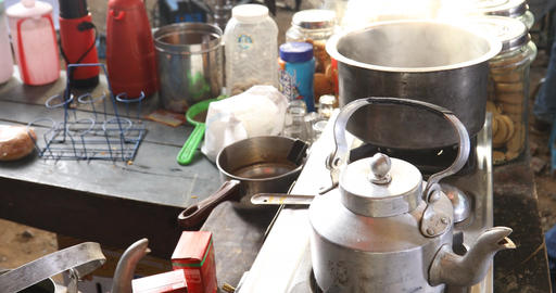 Dish in the Rural Kitchen Footage