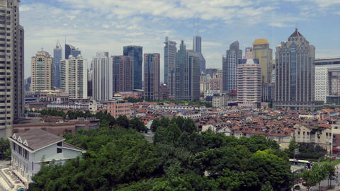 View Of Shanghai China Asia Urban Landscape Of Chinese City Footage
