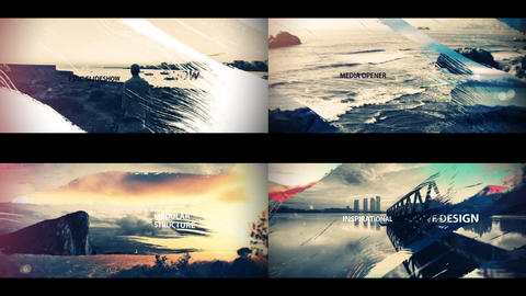 Cinematic Brush Strokes After Effects Template