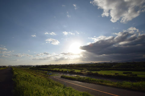 Japanese river and sky Photo