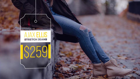 Clean Drop Tags Motion Graphics Template