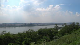 hangang river in korea seoul ビデオ