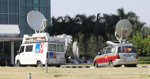 satellite TV van Footage