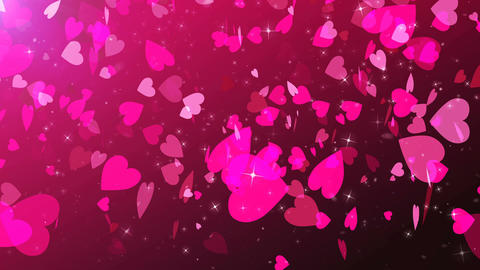 Love hearts animation with rosy background Animation