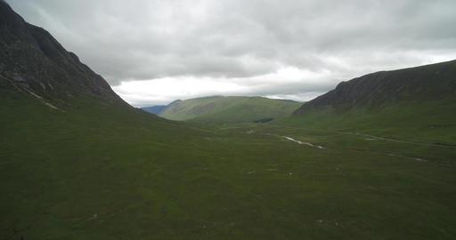 Aerial, Glen Etive, Scotland - Native Version Footage