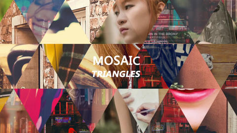 Dynamic Mosaic Triangle After Effects Template