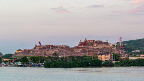 Cartagena Fortress Time Lapse Footage