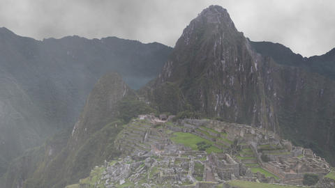 Machu Picchu Appearing from Fog Footage