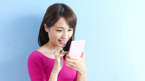 woman use phone Filmmaterial