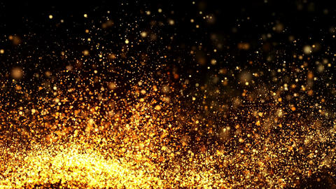 Golden Particles Background CG動画