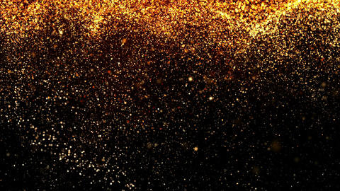 Falling Golden Particles CG動画