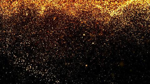 Falling Golden Particles Animación