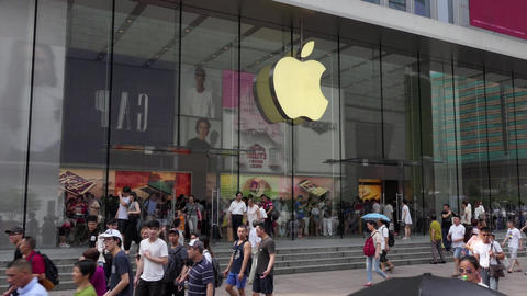 Apple Store In Downtown Shanghai China Asia Image