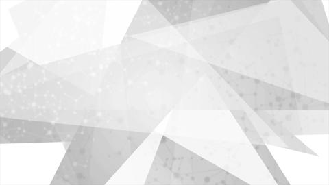 Abstract grey polygonal video animation with DNA molecular structure Animation