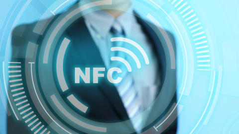 man touch nfc icon Footage