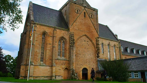 View of Pluscarden Abbey, Scotland Footage