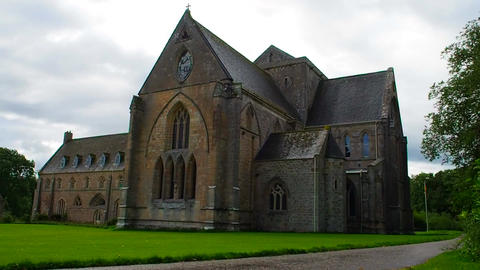 View of Pluscarden Abbey, Scotland Image