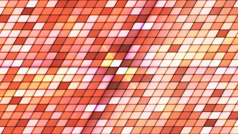 Broadcast Twinkling Slant Hi-Tech Cubes, Orange, Abstract, Loopable, 4K Animation