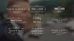 8 Titles animation Motion Graphics Template
