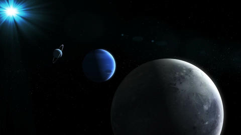 Realistic Planets from space Animation
