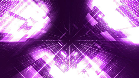 Digital Cyber World Loopable Background - purple Animation
