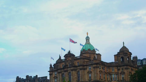 Flags on the Lloyds Banking Groups Palace Footage