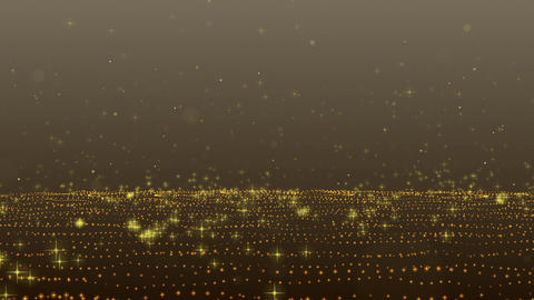 Particle Bounce-GOLD CG動画素材