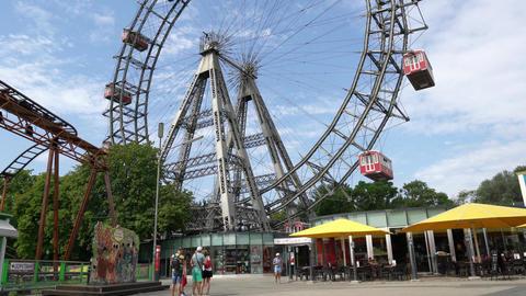 the Ferris wheel in Vienna Footage