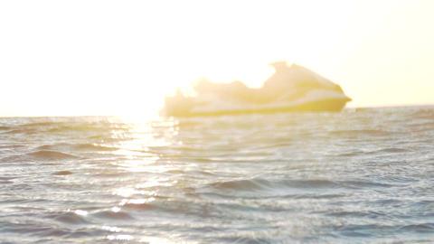 Waterbike at sea Footage