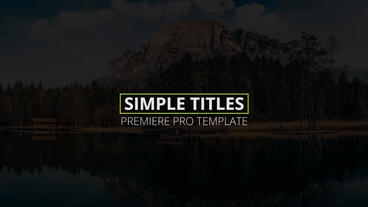 Simple Titles Premiere Pro Template