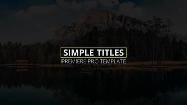 Simple Titles Premiere Pro Template