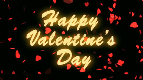 Happy Valentine's Day Gold Text. Valentine's day abstract... Stock Video Footage