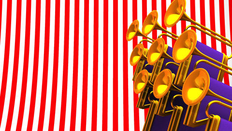 Fanfare On Red White Text Space CG動画