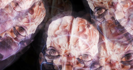 Digital Particle 3D Animation of human Brains Animation
