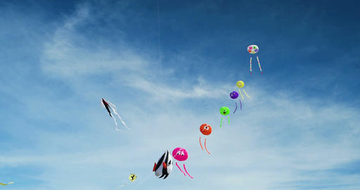 Kites on a Kite Festival in St. Peter-Ording, Germany Image